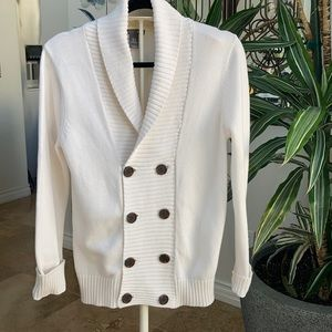 H&M double breasted white  sweater